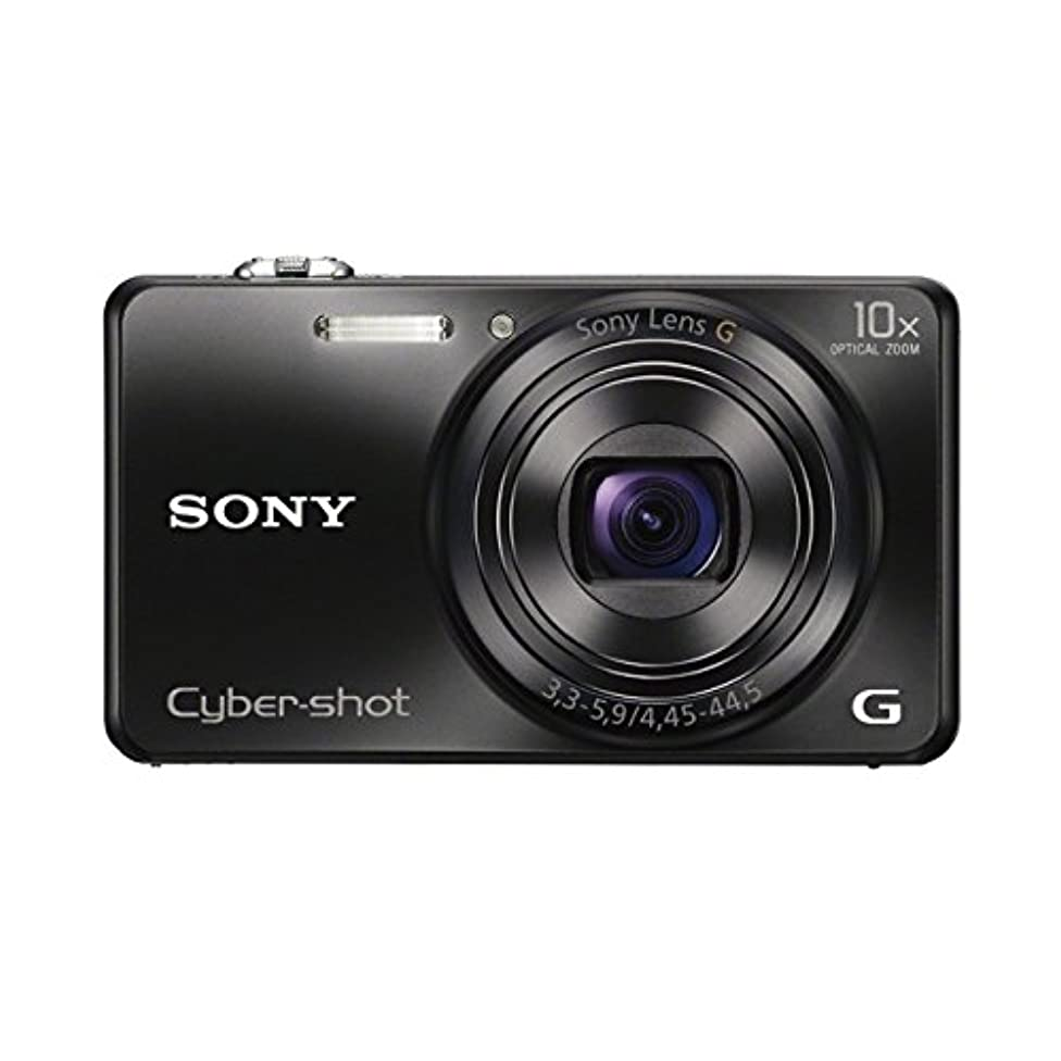 伝染性のかわいらしいグリットSONY デジタルカメラ Cyber-shot WX200 1890万画素 光学10倍 ブラック DSC-WX200-B