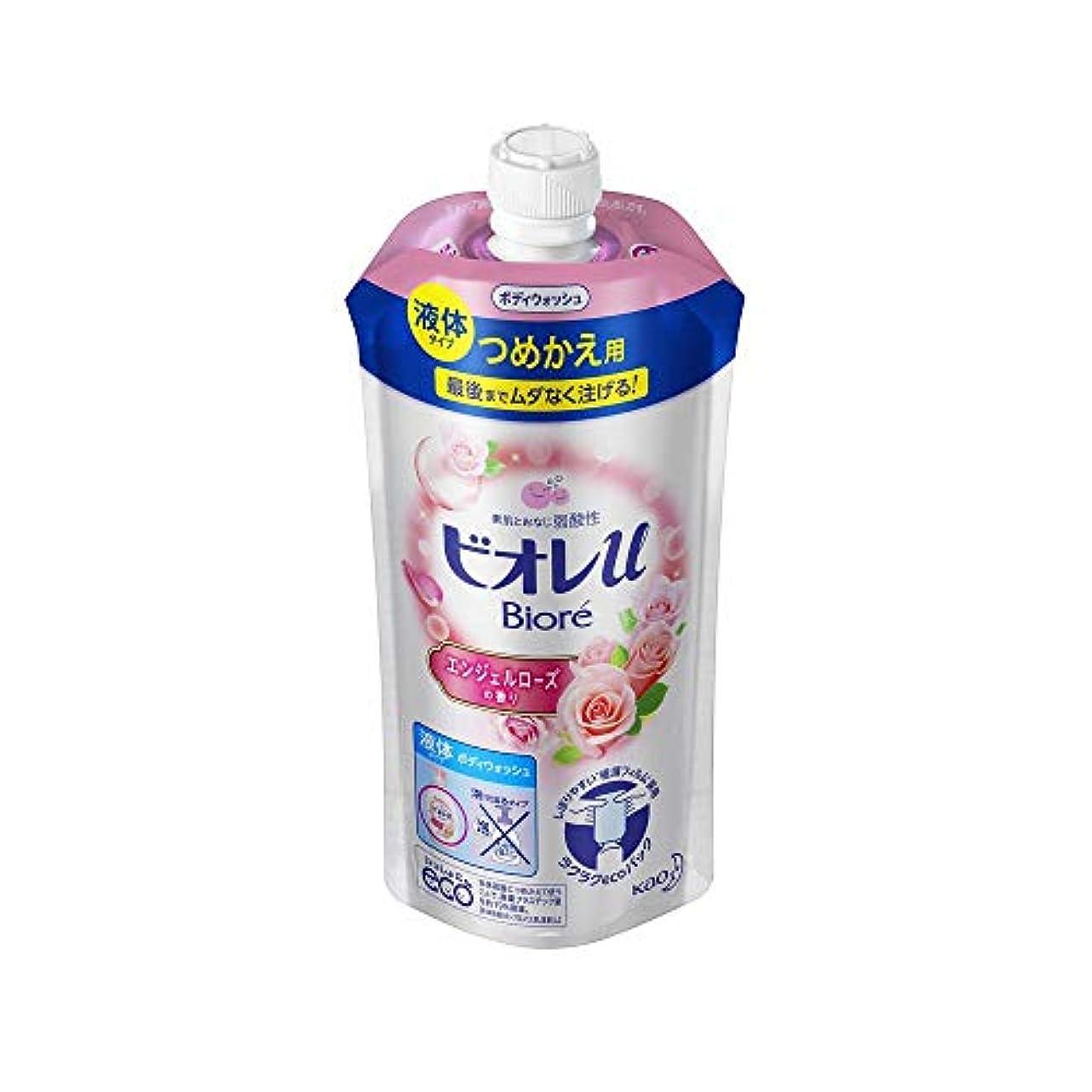 数学者最初レール花王 ビオレu エンジェルローズの香りつめかえ用 340ML