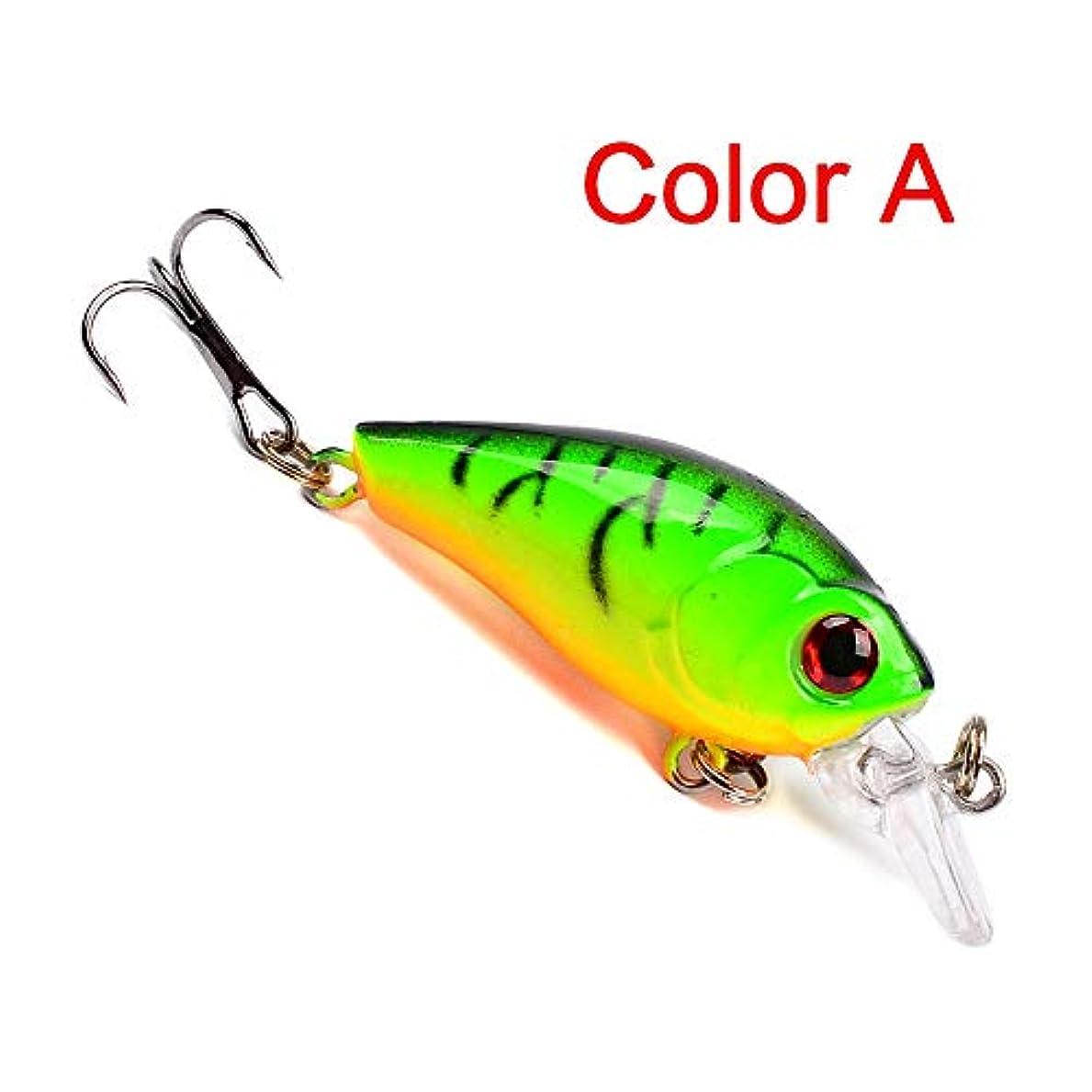 カートリッジ広くシュガーHkkint 釣り餌4.5センチ古典的な道路餌ぽっちゃりプラスチックハード餌3.55グラム呂雅バイオニック餌呂雅ロックベイト (Color : A)