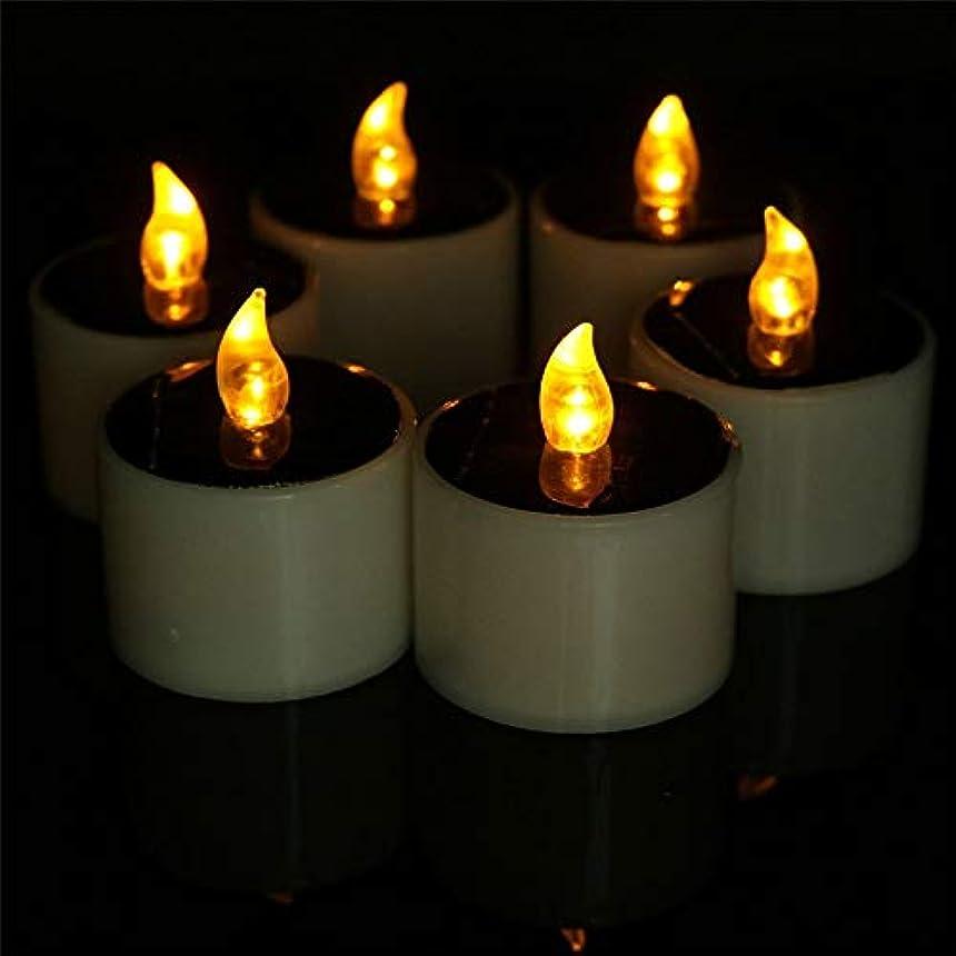 快適コック人類ハロウィン 装飾 LEDの蝋燭ライト、6PCSは結婚式の誕生日教会党装飾のためのFlameless LEDの蝋燭ライトを作動させました (色 : Yellow flash)