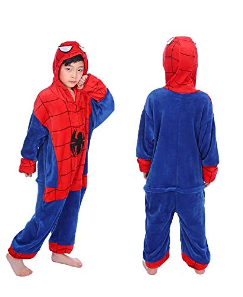 後ろにミス企業ロンパース 男の子 女の子 ハロウィーン スパイダー 漫画 カバーオール 子供 パジャマ フード付き 3D 動物 着ぐるみ 長袖 もこもこ キッズ プレゼント 防寒 ルームウェア 冬