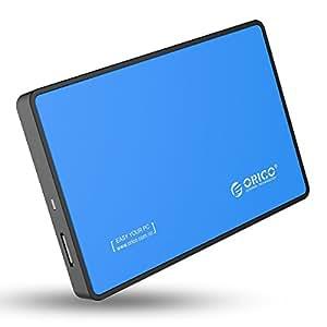 【日本正規代理店】 ORICO 2.5インチ HDD/SSD 外付け ドライブ ケース SATA対応 USB3.0対応 リムーバブルケース 工具不要 簡単 着脱 2588US3 (ブルー)