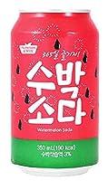 スイカ ソーダ 350ML×24缶 韓国産 韓国の炭酸ドリンク アジアの炭酸ドリンク 炭酸飲料 西瓜味 スイカドリンク 韓国食品 韓国飲料 アジア食品 変わり種