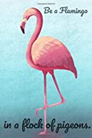 Be a FLAMINGO in a flock of pigeons: Amazing Flamingo Notebook Journal Diary for everyone - tropical season