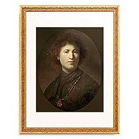 レンブラント・ファン・レイン Rembrandt Harmenszoon van Rijn 「Brustbild eines jungen Mannes, 1632.」 額装アート作品