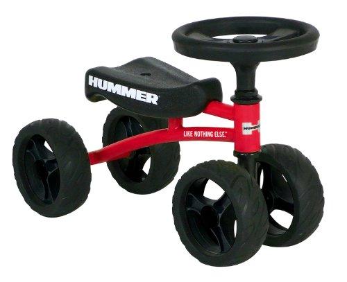 HUMMER(ハマー) BUGGY BIKE レッド 四輪バイク ラウンドハンドル クラクション付き...