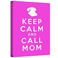 ArtWallアートD。署名者' Keep Calm and Call Mom ' gallery-wrappedキャンバスアートワーク 36x48 0kcc003a3648w