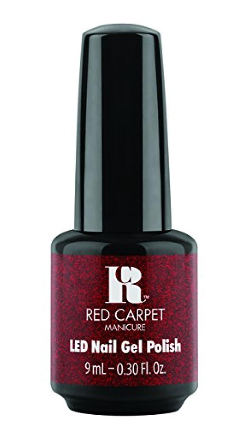 知性苗マージRed Carpet Manicure - LED Nail Gel Polish - Designer Series - Draped in Rubies - 0.3oz/9ml