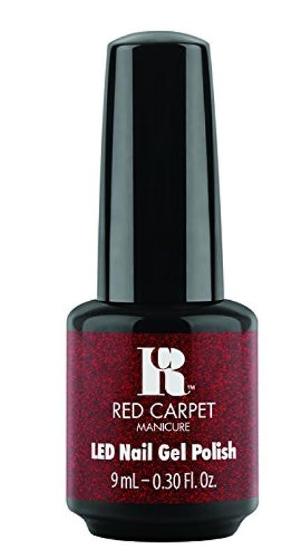 辞任する害正気Red Carpet Manicure - LED Nail Gel Polish - Designer Series - Draped in Rubies - 0.3oz/9ml