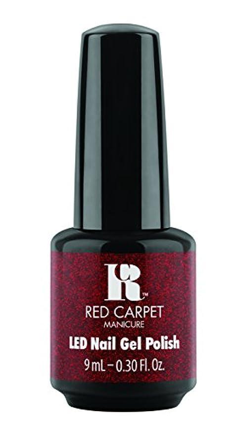 チェスをするニンニク追加するRed Carpet Manicure - LED Nail Gel Polish - Designer Series - Draped in Rubies - 0.3oz/9ml