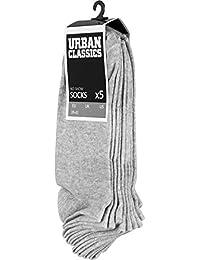 アーバン Classics - NO SHOW ショート 靴下 5-pack グレー
