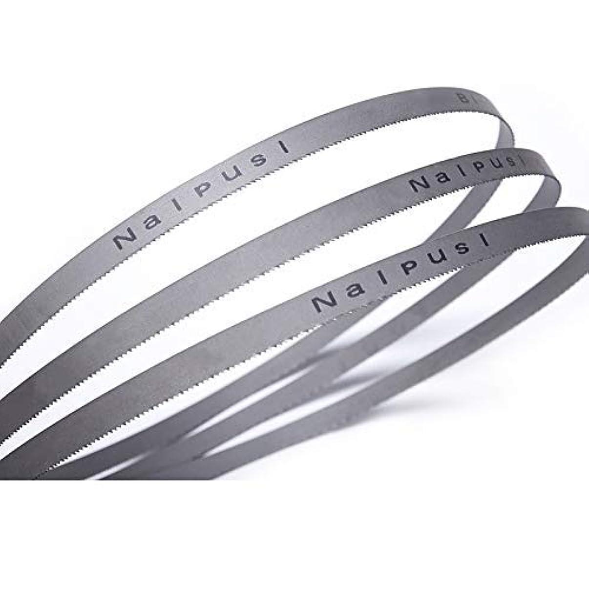 エミュレーションフィクション悪化させる3Pcs 56-1 / 2 x 1/2 x 14tpi双金属M42金属带锯刀片用于金属1435mm x 13mm高速钢带锯 - (外径:8和12 tpi)