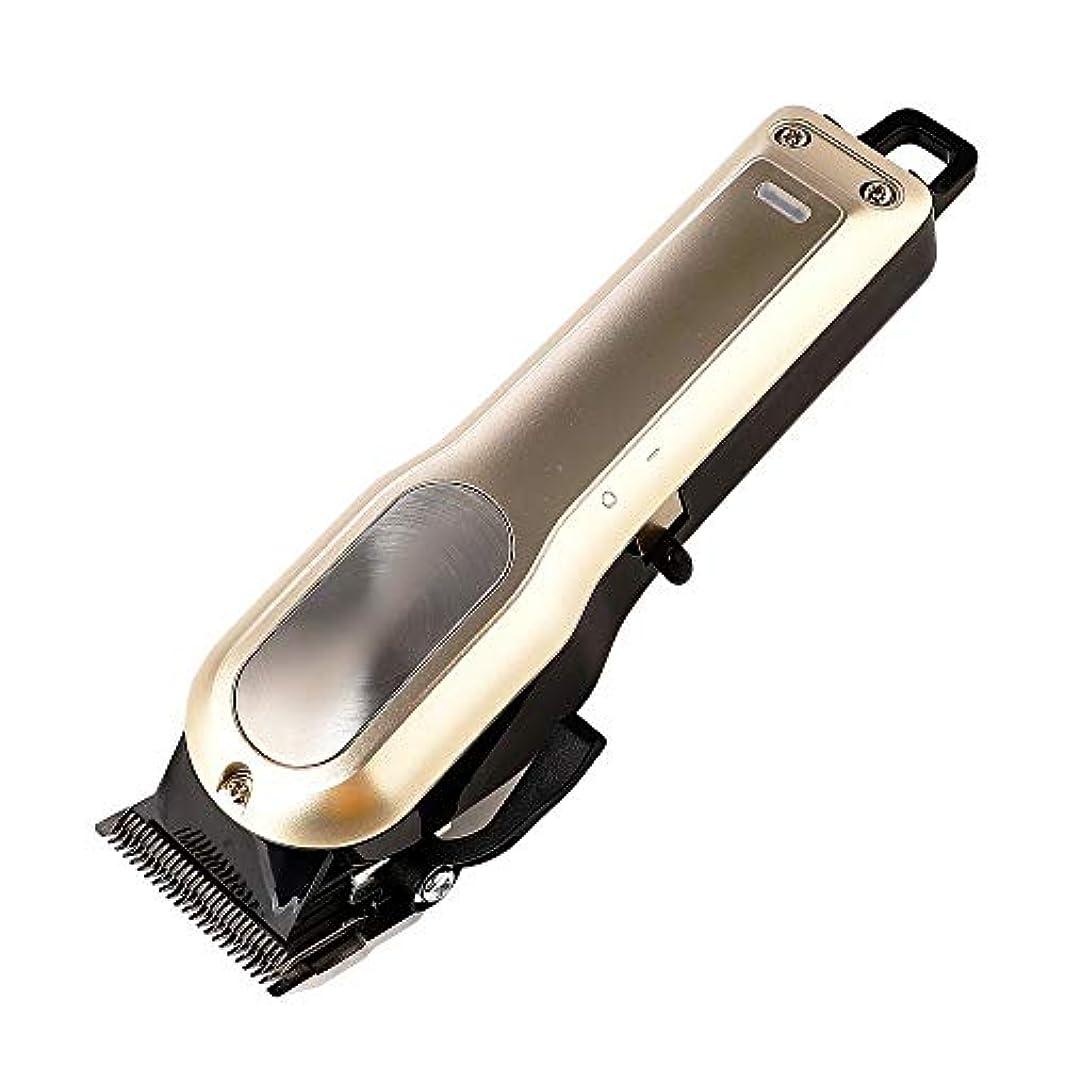 策定するシード巨大なWAKABAFK 特別なバリカン家庭用充電式ヘアカッターシェービングヘッド機ヘアトリマー理髪ツール (色 : ゴールド)