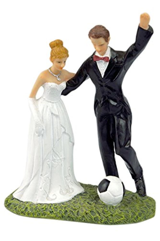 Lumierechat 結婚式 ウェディング ケーキトッパー ウェディングケーキ ケーキ トッパー 飾り デコレーション新郎 新婦 花嫁 a-8046 (J(サッカー2))
