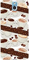 ガラスフィルム 付 かんたんスマホ 705KC TPU ソフトケース コーヒーとコーヒー豆 Y!mobile ワイモバイル スマホケース スマホカバー デザインケース