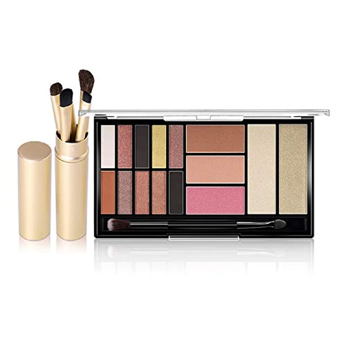 アカデミック二イライラするNew Arrival Palette Eyeshadow Highlighter Glitter Cheek Blush Contour Matte Smoky Eye Shadow Palette 15 Shades...