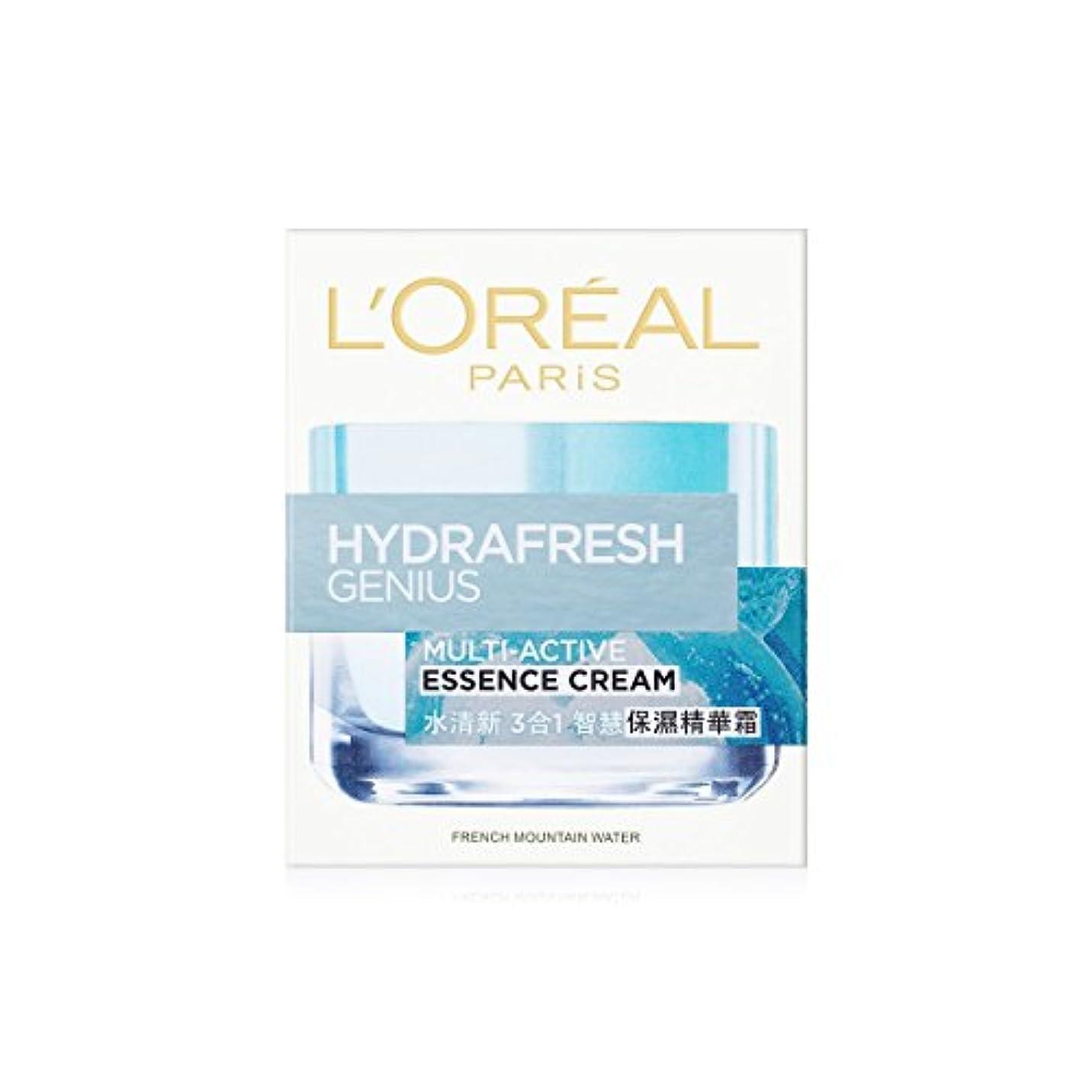 愛されし者適切に長椅子ロレアル Hydrafresh Genius Multi-Active Essence Cream 50ml/1.7oz並行輸入品