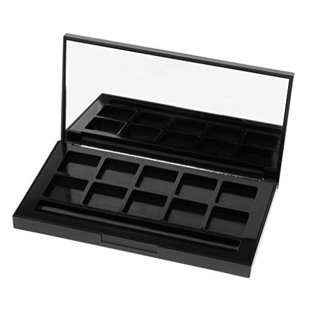 KESOTO メイクアップケース アイシャドウパレット リップグロス DIY 2タイプ選べ - 10グリッド