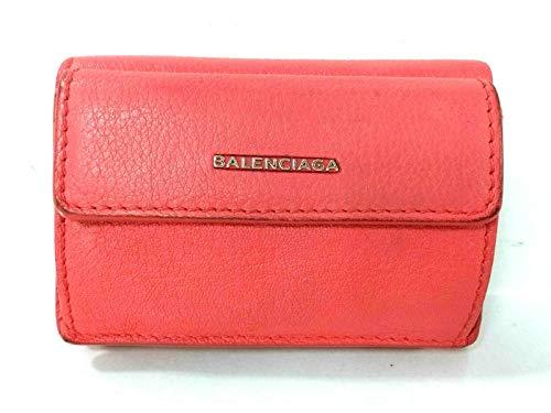 (バレンシアガ) BALENCIAGA 3つ折り財布 エッセンシャルミニウォレット ピンク 410133 【中古】