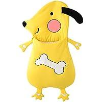 Tortor 1bacha(JP) 可愛い ワンちゃん ベビー 赤ちゃん 寝袋 ソフト コットン シュラフ 黄色 ドッグ 寝具 新生児 柔らかい 布団 動物 お出かけ 出産祝い 誕生日 プレゼント