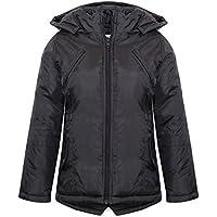 Girls Jackets Kids Designer's Foam Padded Hooded School Warm Thick Coat 3-10 Year