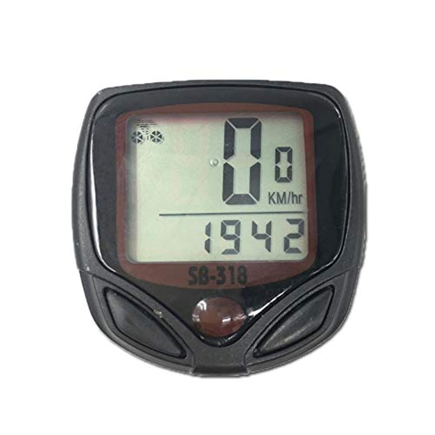広範囲大理石フィラデルフィアスピードメーター走行距離計、1PC防水自転車バイクサイクルLCDディスプレイデジタルコンピュータースピードメーター走行距離計(ブラック+レッド)