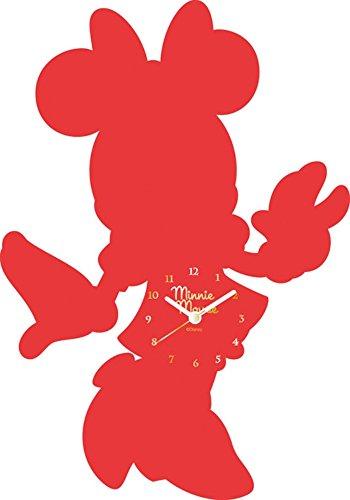 Disney 壁掛け時計 ディズニーアクリルウォールクロック アナログ表示 ミニーマウス 733996