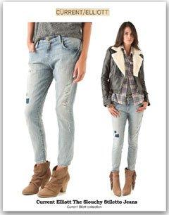 The Slouchy Stiletto Jeansウォッシュデザインスキニーデニム・ジーンズ カレントエリオット