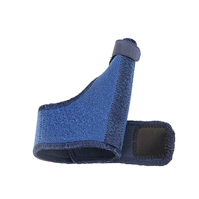 強います疲労廃棄ZYL-YL 手首の手首カバー親指ジャケットスチールストリップ固定親指ストラップスポーツリストバンド (色 : 青, Edition : Right)