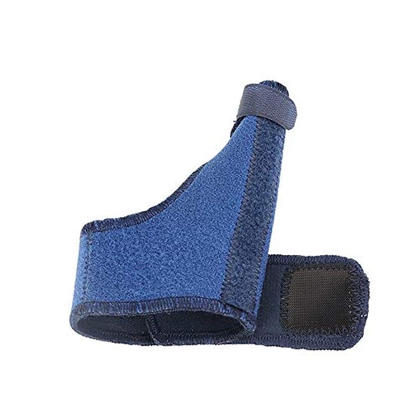落ち込んでいる管理するバングZYL-YL 手首カバー親指ジャケットスチールストリップ固定親指ストラップスポーツリストバンド手首のサポートフィンガースプリント (色 : 青, Edition : Right)