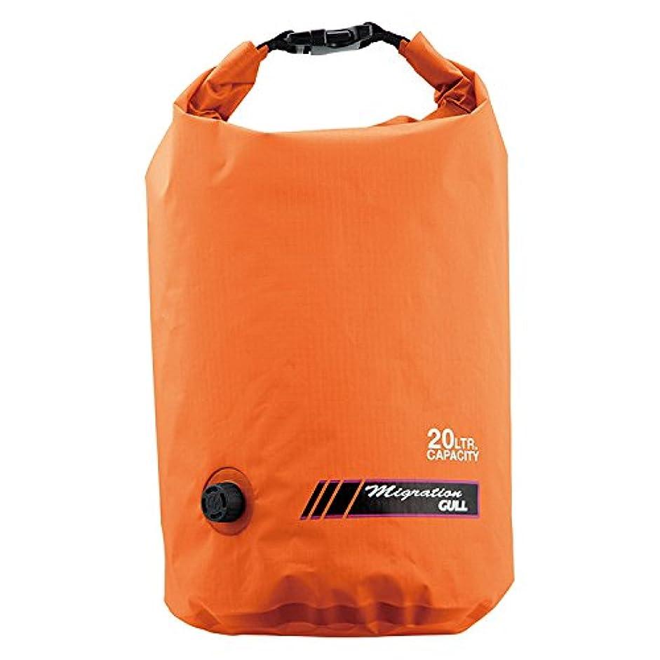 大騒ぎホールド偶然防水バッグ GULL/ガル ウォータープロテクトバッグ Mサイズ 20L ドラム型形状 防水 プールバッグ アウトドア
