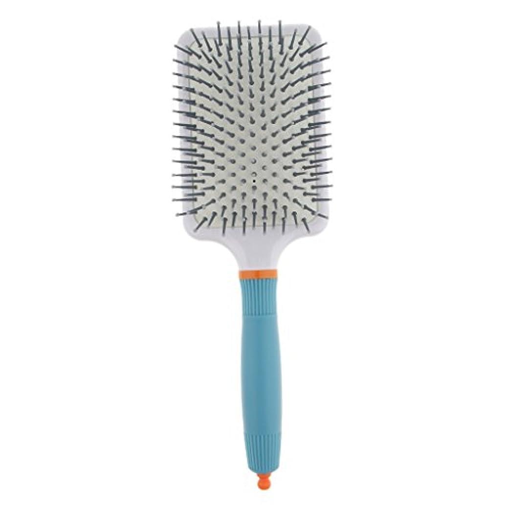 磁石長椅子剥離Fenteer 頭皮マッサージ ヘアブラシ 櫛 パドル エアクッション櫛 2色選べる - ライトブルー