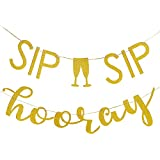ゴールドグリッターシップシップホレイビールマグバナー - 卒業パーティー 結婚パーティー バチェロレッテパーティー 誕生日パーティー デコレーション用品