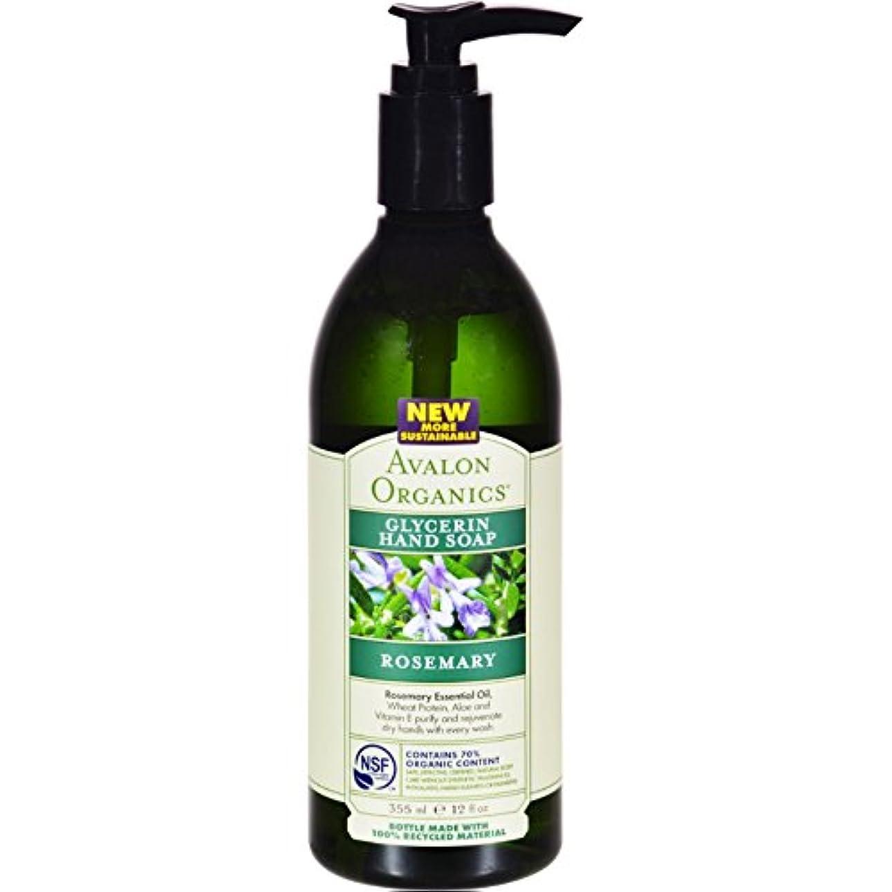 病んでいる溢れんばかりの失海外直送品Avalon Organics Hand Soap Glycerin, Rosemary 12 Oz (Pack of 6)