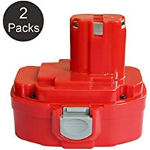 Fhybat 3.0Ah Replace for Makita 18V Battery Ni-Mh PA18 1834 1822 1823 1835 8391D 192827-3 192829-9 193159-1 193140-2 193102-0 192826-5 JR180D 4334D 5026DA LS711D LS800D ML183 UB181D Power Tool Drill Batteries 2 Pack