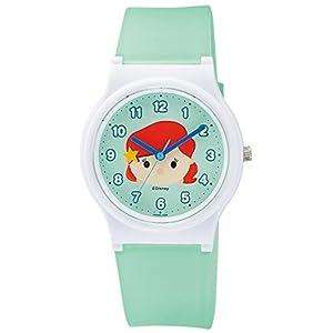 [シチズン キューアンドキュー]CITIZEN Q&Q 腕時計 Disney コレクション 『 TSUMTSUM 』 『 アリエル 』 ウレタンベルト グリーン HW00-008 ガールズ