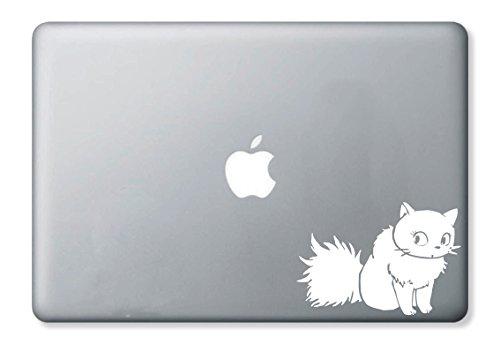 魔女の宅急便 白猫 リリー MacBook 対応 ノートパソコン カッティングステッカー スキンシール ホワイト 白