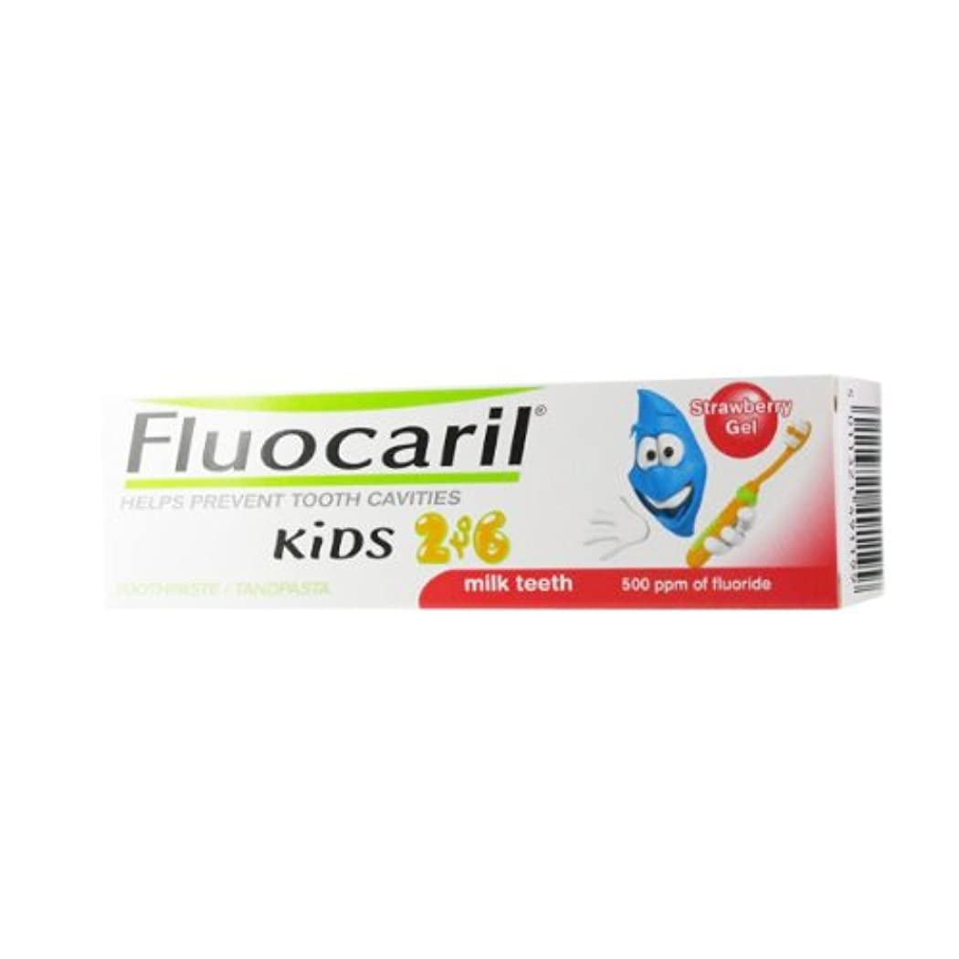 トリム送信する火山学Fluocaril Kids 2 To 6 Strawberry Gel 50ml [並行輸入品]
