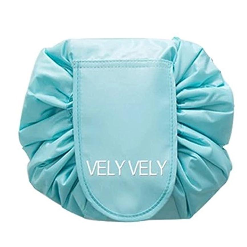 咽頭比較的極地Littleliving 旅行メイクバッグ 旅行化粧バッグ メイク収納バッグ 化粧ポーチ 大容量 巾着 マジックふろしきポーチ