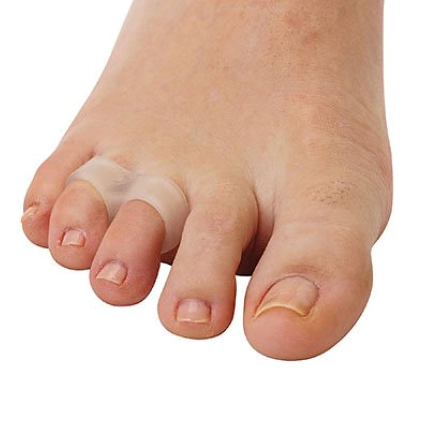 ブラインドバラ色ユーモア内反小趾用足指スペーサー?2ループ(P35)(フリーサイズ)