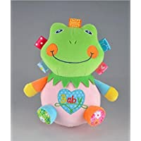Keaner新生児幼児Roly - Polyおもちゃ動物キュートShake Litter Frog Plush Toyタンブラートイギフトデコレーション_ (ピンク+グリーン)