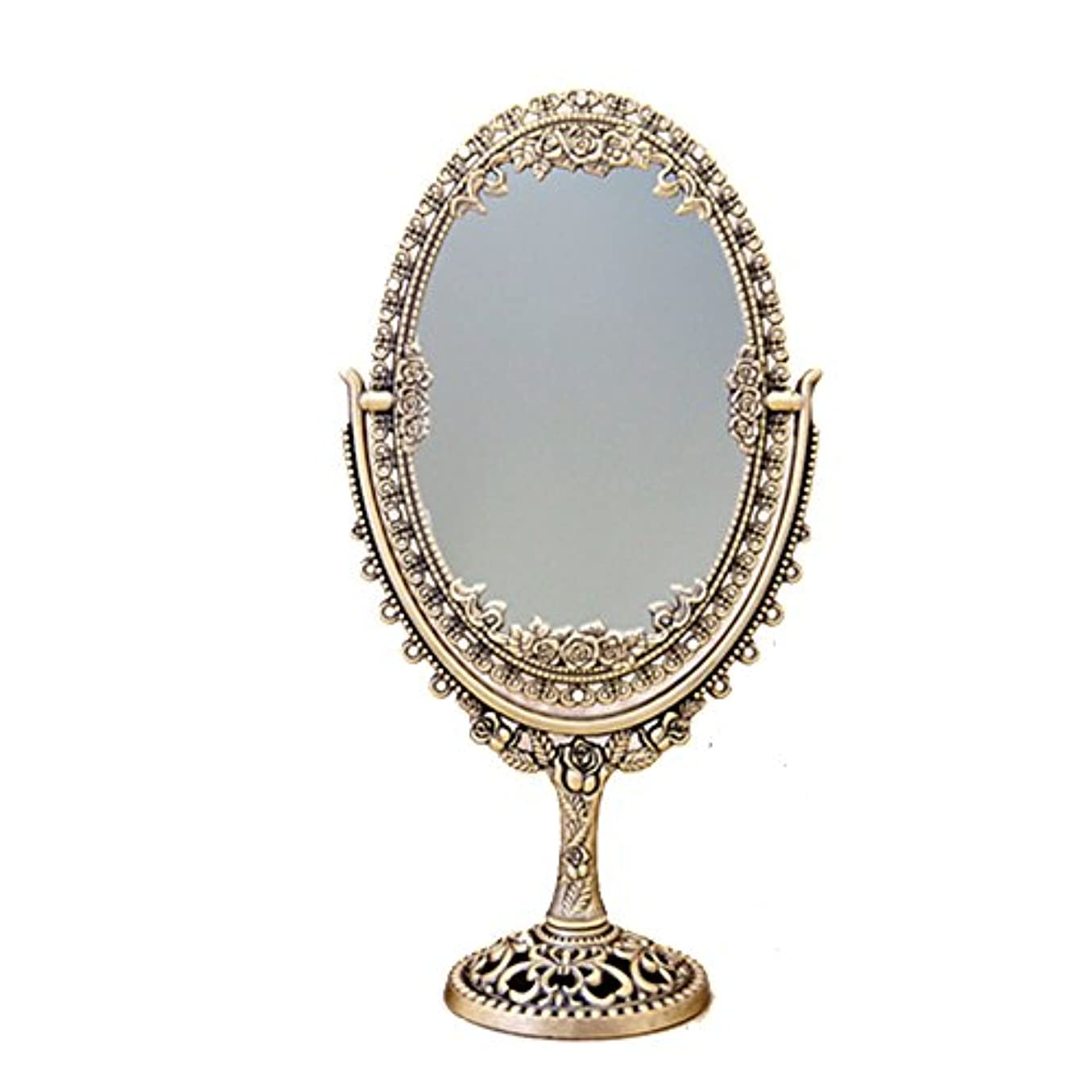 ばか最も遠いおもちゃ置き鏡 アンティーク風 アクセサリーホルダー アルテミス テーブルミラー:int-ak-sw-0920 (Brass)