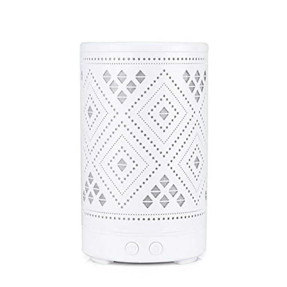 クラシック ミニ 中空 加湿器,涼しい霧 7 色 デスクトップ 加湿機 精油 ディフューザー アロマネブライザー Yoga ベッド 寮- 100ml