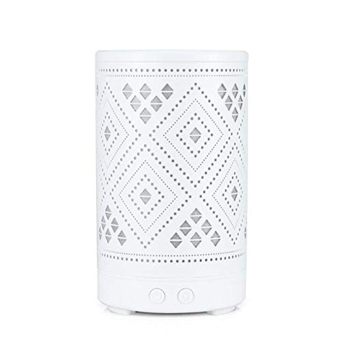 溝ステージ起きているクラシック ミニ 中空 加湿器,涼しい霧 7 色 デスクトップ 加湿機 精油 ディフューザー アロマネブライザー Yoga ベッド 寮- 100ml
