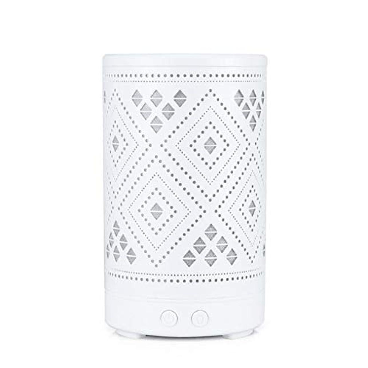 空気増強するテロリストクラシック ミニ 中空 加湿器,涼しい霧 7 色 デスクトップ 加湿機 精油 ディフューザー アロマネブライザー Yoga ベッド 寮- 100ml