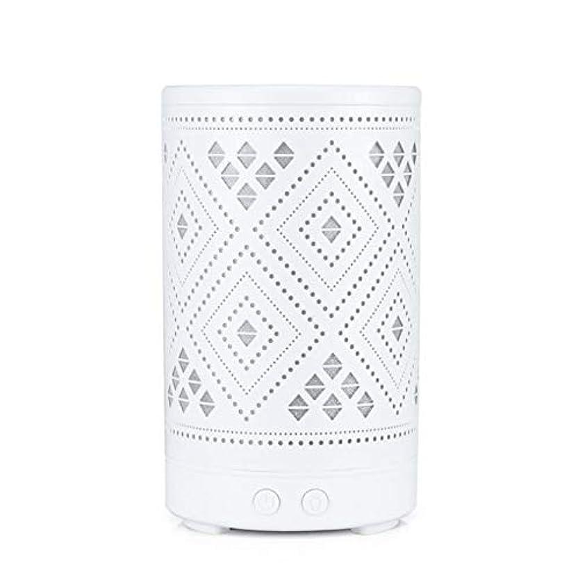 スツールホテルヒョウクラシック ミニ 中空 加湿器,涼しい霧 7 色 デスクトップ 加湿機 精油 ディフューザー アロマネブライザー Yoga ベッド 寮- 100ml