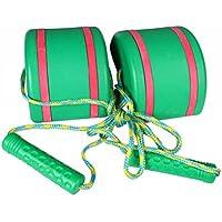 VORCOOL 2pcs/set子供のための子供たち(緑)のための屋外おもしろいスポーツのおもちゃジャンプ屋根の歩行