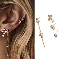 PINKING ピアス シンプル ファッション トレンド 気質 十字架 ダイヤモンド 4点セット
