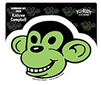 kalynn campbell lowbrow smiling green monkey ステッカー sticker