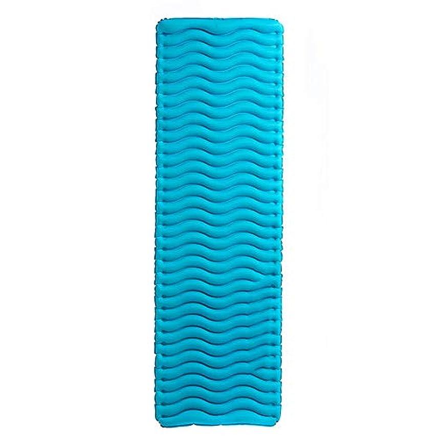 似ているピカソソファー寝袋アウトドアアウトドアブッシュスリーシーズンキャンプ 厚いとポータブルシングルダブル超軽量キャンプテントインフレータブルクッション肌にやさしい防湿性と通気性 で利用できる単一の二重色 (色 : 青)